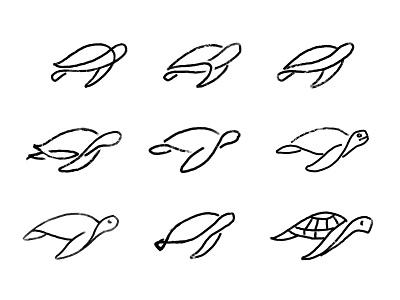 Monoline turtle sketches process sketches monoline animal turtle custom logo design symbol designer branding identity identity designer mark brandmark logo designer logo design logo