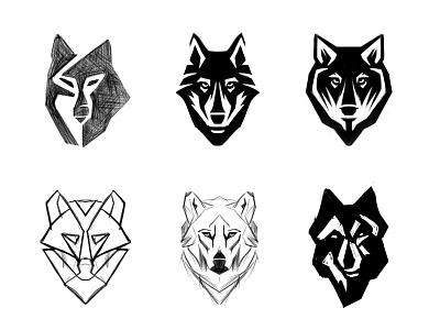 Wolves sketches process sketch sketches wolves wolf animal custom logo design symbol designer branding identity identity designer mark brandmark logo designer logo design logo