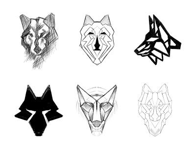 Wolves - Part 02 process sketches sketch wolves wolf animal logo animal custom logo design symbol designer branding identity identity designer mark brandmark logo designer logo design logo
