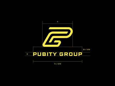 Pubity Group monoline lettering letter monogram typography custom logo design symbol designer branding identity identity designer mark brandmark logo designer logo design logo