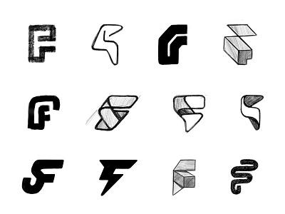 F sketches (5) process sketches monogram lettering letter typography custom logo design symbol designer branding identity identity designer mark brandmark logo designer logo design logo