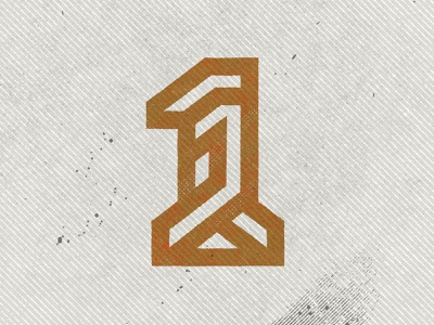 No. 1 monoline symbol 1 texture number monogram custom logo design branding identity identity designer mark brandmark logo designer logo design logo