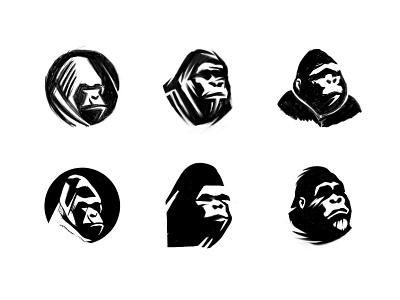 Ape sketches (WIP) process sketches animal logo gorilla monkey ape animal custom logo design symbol designer branding identity identity designer mark brandmark logo designer logo design logo