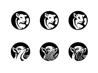 Lamb sketches 2 symbol illustration process sketches lamb animal logo animal custom logo design branding identity identity designer mark brandmark logo designer logo design logo