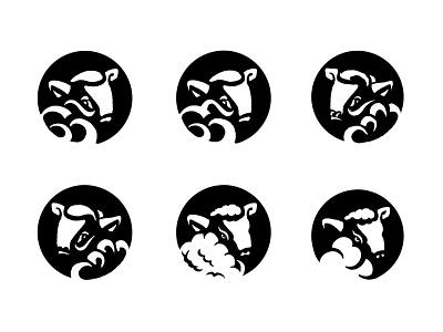 More lamb sketches. wool sheep black and white animal process sketch lamb animal logo custom logo design illustration design identity identity designer mark brandmark logo designer logo design logo
