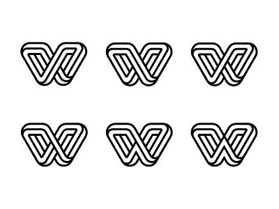 W monoline letter monogram lettering type typography custom logo design branding design identity identity designer mark brandmark logo designer logo design logo