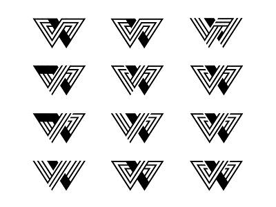 W's geometric logo brand design branding custom logo design lined patten w monogram letter lettering type typography design identity identity designer mark brandmark logo designer logo design logo
