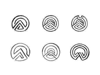 Apex sketches circular logo emblem branding custom logo design symbol process sketches design identity identity designer mark brandmark logo designer logo design logo