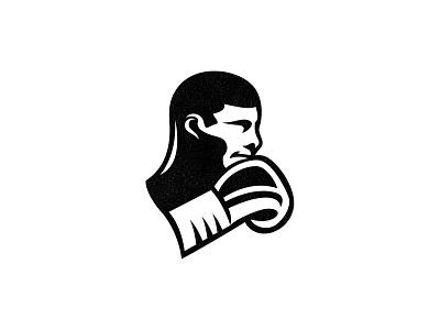 Boxerr negative space logo human graphic boxing sport boxer logo boxing logo boxer sports logo custom logo design brand identity illustration design identity identity designer mark brandmark logo designer logo design logo