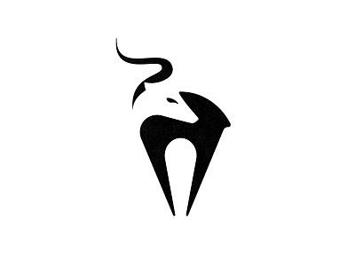 Antelope negative space logo negative space antelope animal antelope logo animal logo brand identity custom logo design branding identity identity designer mark brandmark logo designer logo design logo
