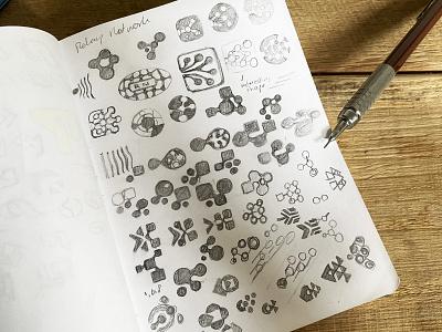 Sketch process. graphic design graphic icon symbol network process sketchbook sketch custom logo design brand identity design identity identity designer mark brandmark logo designer logo design logo