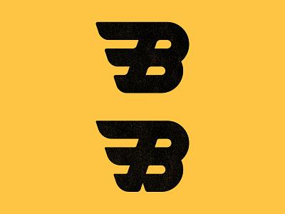 Flying B's b flying b monogram letter type lettering typography custom logo design brand identity identity identity designer mark brandmark logo designer logo design logo