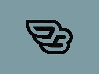 Flying B (3) b flying b monogram letter lettering type typography custom logo design brand identity identity identity designer mark brandmark logo designer logo design logo