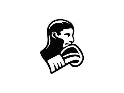 Boxer - updated version human face boxing logo sports logo boxer brand identity custom logo design branding illustration design identity identity designer mark brandmark logo designer logo design logo