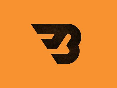 Flying B sports logo letter lettering type typography monogram custom logo design brand identity identity designer mark brandmark logo designer identity logo design logo