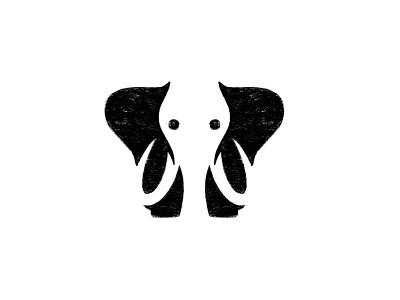 Elephant sketch negative space elephant logo animal process sketch elephant animal logo branding brand identity custom logo design illustration design identity identity designer mark brandmark logo designer logo design logo