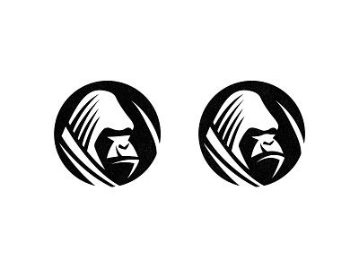 Ape - WIP negative space gorilla ape monkey logo gorilla logo ape logo animal logo process work in progress custom logo design branding brand identity design identity identity designer mark brandmark logo designer logo design logo