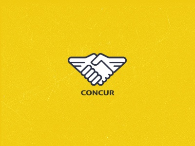 Concur Logo concur join hands handshaking hands logo symbol icon deal seal sealed logo designer identity designer icon designer symbol designer iconographer iconography