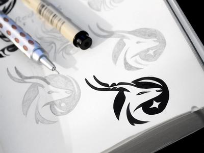 Antelope (springbok) logo concept