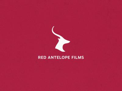 Logo for Red Antelope Films symbol identity brand mark films antelope logo