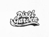 Pixel Garden - Custom Lettering