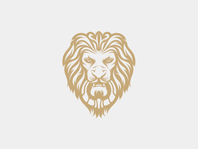 Lion Doorknocker king regal logo design doorknocker lion