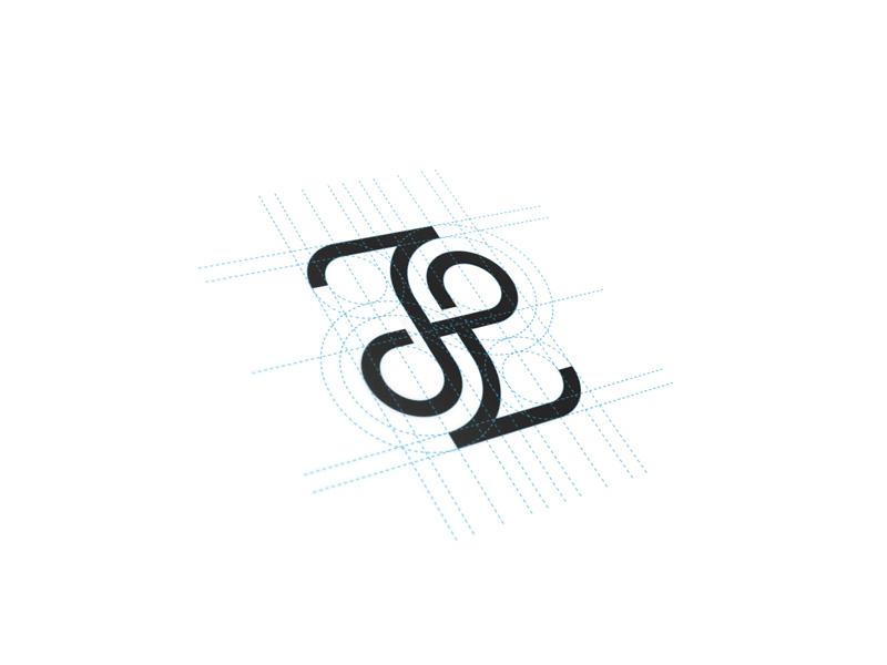 JL Monogram brand mark logotype logo monogram