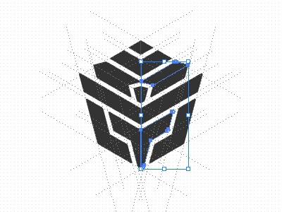 Foxy Nomad Logo guides guidelines illustrator transformers autobots rollout megan fox decepticon optimus logo designer identity designer icon designer symbol designer iconographer iconography typography logo illustration