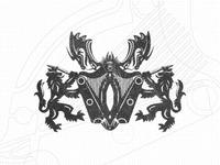 Harps Dragons Lions Heraldry