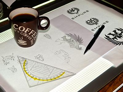 It's Coffee Time.. Logo Designer coffee break logo designing heraldic tribal geometric logo designer identity designer icon designer symbol designer iconographer iconography typography logo illustration