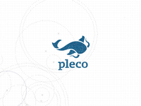 Pleco (catfish) logo design