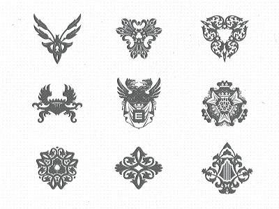 Ornate Logo Design heraldiek wapenkunde heraldic heraldry eagles ornaments ornate baroque