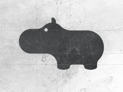 Hippo - Logo Design Brand Mark Symbol emblem mark symbol badge hip opotamus hippo logo hippolicious plump-opotamus hipposome logo designer logo design timeless design hippologo logo mark logo redesign logo sketch freelance logo designer icon designer identity designer circular geometry