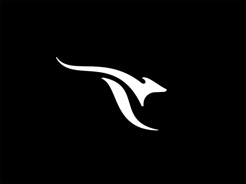 Aussie 2 logo collection kangaroo animal symbol brandmark mark logo