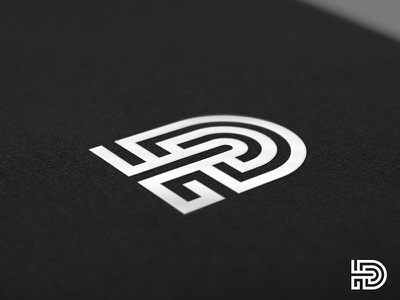 D monoline geometric logo collection typography d letter monogram icon mark logo