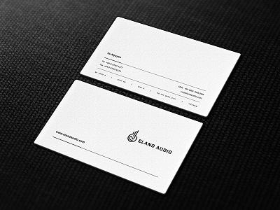 Eland Audio - Business Cards logo collection animal monoline gazelle audio eland brandmark mark logo