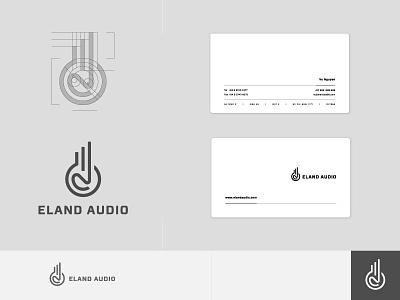 Eland Audio - identity process grids identity logo mark brandmark eland audio gazelle monoline animal logo collection