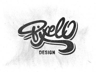 Pixelo Logo lettering pixelo typography logo logotype hand-drawn type wordmark script