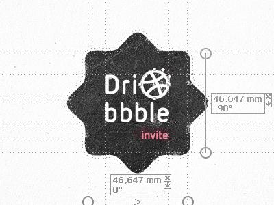 One Dribble Invite Left dribbble invite