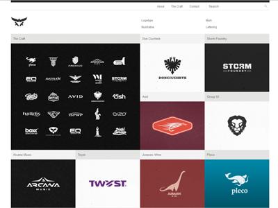 New Portfolio Site brand identity design custom logo design ux designer ui designer ux design ui design logos portfolio brandmarks brands wordmarks logotypes lettering