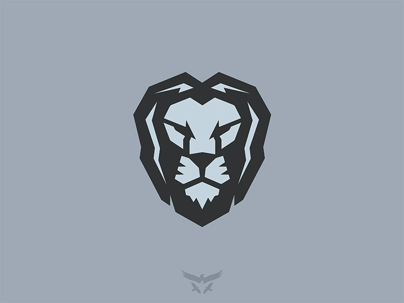 Lion geometric logo mark brandmark lion animal logo collection