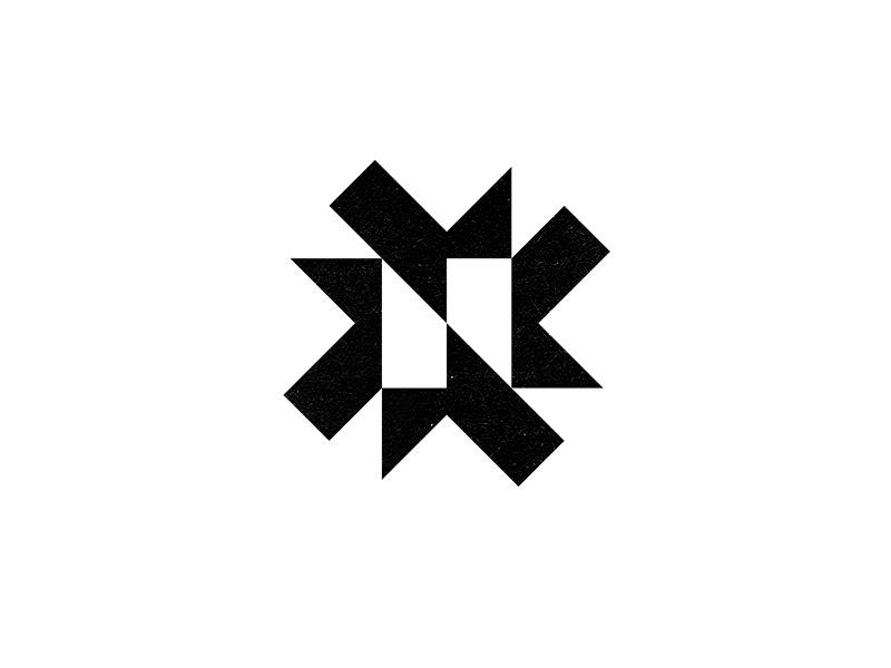 N Star star geometric n monogram lettering typography brand mark identity branding logo
