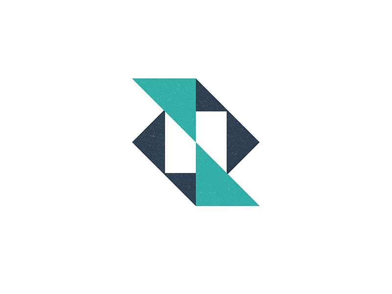 N-mark geometric n monogram lettering typography brand mark identity branding logo
