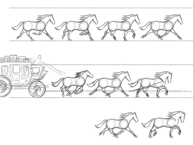 Horses exploring sketches horses identity logo process brandmark branding logo collection