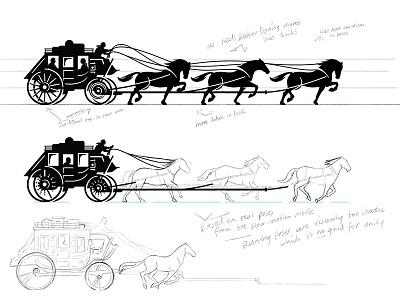 Logo Design Process Part for Wells Fargo wells fargo pencil sketch horses rebranding identity branding process logo