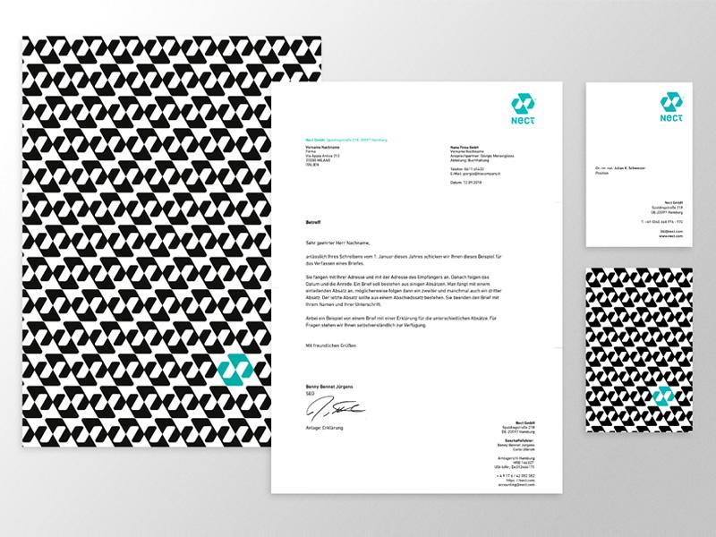 Nect - stationary typography identity designer symbol designer design iconography brandmark logo designer mark stationary stationary design identity logo