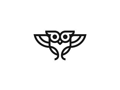Monoline Owl iconographer icon designer symbol designer animal iconography brandmark logo designer logo design mark logo