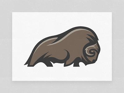Muskox animal logo muskoxen arctic illustrator logo design brandmark illustration muskox animal logo designer mark logo