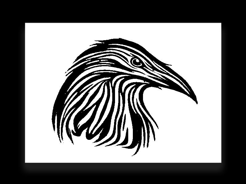 Inktober: Raven Tattoo ravens raven logo designer illustration tattoo design tattoo