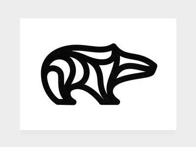 Monobear Quick Logo Draft vector mammal logo mark brandmark animal logo designer logo design logo